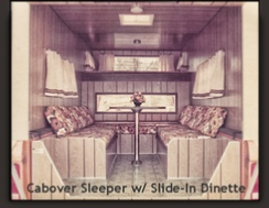 Ranger cabover sleeper with slide in dinette