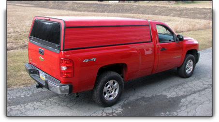 Ranger aluminum truck cap plain sides, no side windows.